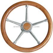 Volante A inox/teak 350 mm  [4513505]Accessori Nautici