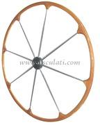Timone con cerchio esterno in teak