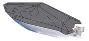 Versione per scafi aperti con consolle di guida centrale Adatta per scafi lunghezza m: 4,20 - 4,40