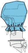 Coprimotori fuoribordo - Lung cm: 40x24x30h Potenze indicate HP: 2-4