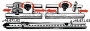 Accessori Nautica Rotaia inox 100 cm 28 x 29 mm  [4667100]