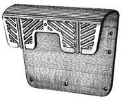 Accessori Nautici. Piastra proteggi poppa - Misure mm: 400x280<br/><font color=#962308>Quantità Minima: 2 pezzi (5.12€ al p.zo) </font>