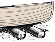Accessori Nautici. Rullo alaggio per varo scafi Roll Boats - Portata kg 200