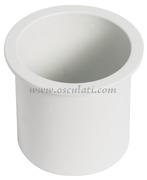 Porta bicchieri ad incasso ABS bianco  - 48.430.13 Osculati accessori<br/><font color=#962308>Quantità Minima: 4 pezzi (2.31€ al p.zo) </font>