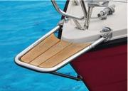 Accessori Nautica Delfiniera inox/teak semplice  [4847101]