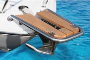 Accessori Nautica Delfiniera inox/teak con musone diamatro tubo mm 25  [4847104]