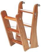 Scaletta in legno di mogano