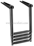 Scaletta Inox Telescopica per plancetta 4 gradini  [4953604]Accessori Nautica