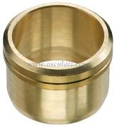 Dado in ottone per tubo rame mm8 (blister 5 pz.)
