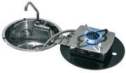 Accessori Nautica Fornello ribaltabile 1 fuoco+lavello tondo  [5010201]