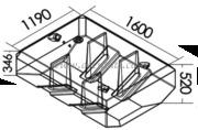 Accessori NauticiSerbatoio carburante 767 l Misure: 1600x1190 mm