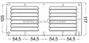 Accessori Nautica Griglia areazione inox 128 x 232 mm  [5302103]<br/><font color=#962308>Quantità Minima: 2 pezzi (5.17€ al p.zo) </font>