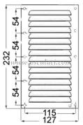 Accessori Nautica Griglia areazione inox 232 x 127 mm  [5302104]<br/><font color=#962308>Quantità Minima: 2 pezzi (6.15€ al p.zo) </font>