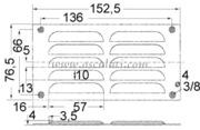 Accessori Nautica Griglia areazione inox 76 x 152 mm  [5302105]<br/><font color=#962308>Quantità Minima: 2 pezzi (3.74€ al p.zo) </font>