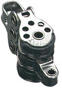 Microbozzello Triplo per cimette fino mm: 5 Puleggia Diametro mm: 17