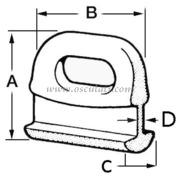 Accessori Nautica Cursori nylon curvi 14 mm  [5804750]<br/><font color=#962308>Quantità Minima: 10 pezzi (1.17€ al p.zo) </font>