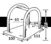 Accessori Nautica Porta tangone inox 110 mm   [6061573]