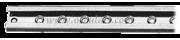 Accessori Nautica Rotaia inox per cursori 22 mm 1 m [6110650]
