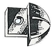 Accessori Nautica Terminale nylon per rotaia 22 mm  [6111630]<br/><font color=#962308>Quantità Minima: 4 pezzi (1.25€ al p.zo) </font>