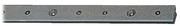 Accessori Nautica Rotaia lega leggera anodizzata 25x4 mm 2 m [6159103]