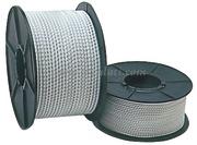 Cavo elastico bianco in para rivestito in poliestere.Diametro mm: 3