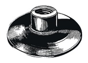 Porta bandiera diritto con filetto in EPDM di colore Nero - diamatro base mm: 75<br/><font color=#962308>Quantità Minima: 5 pezzi (1.51€ al p.zo) </font>