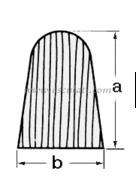 Profilo teak falchetta 28x20 mm