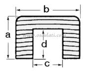 Accessori Nautica Profilo copri cavi teak  [7102000]