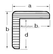 Accessori Nautica Profilo teak a L  [7102800]<br/><font color=#962308>Quantità Minima: 3 pezzi (46.01€ al p.zo) </font>