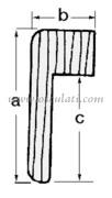 Accessori Nautica Profilo teak per cornici 71.042.00  [7104300]<br/><font color=#962308>Quantità Minima: 3 pezzi (59.99€ al p.zo) </font>