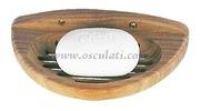 Portasapone - A forma di conchiglia, misure mm: 180x90x35