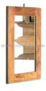 Accessori Nautica Specchio cornice teak 275x375 mm  [7160574]