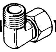 Raccordo per Pompe Ultaflex a 90°-3/8 (EF38)  [4529031]Accessori Nautica
