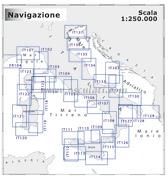Cartografia costiera 1:250.000 NAVIMAP media navigazione