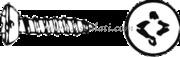 Viti autofilettanti testa svasata a goccia di sego taglio a croce UNI 6956 DIn 7983